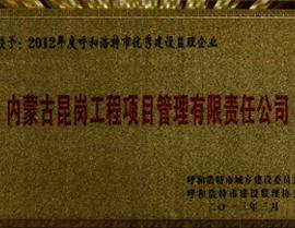 2012年度监理企业